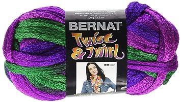 Amazoncom Bernat Twist N Twirl Yarn Jazzberry