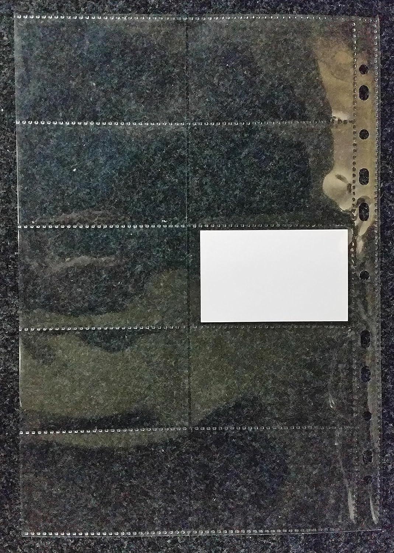 Visitenkarten-Tasche f/ür 1000 Karten 100my 50x A4 Visitenkartenh/ülle GLASKLAR GLATT