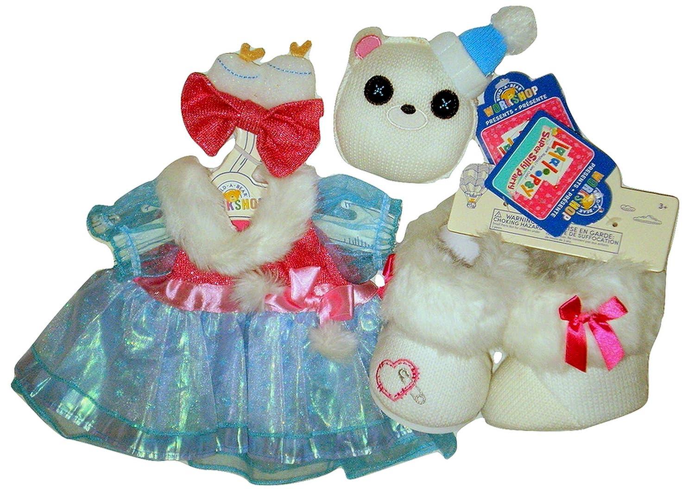 Amazon.com: Build a Bear Lalaloopsy Blue Dress Faux Fur Boots Polar ...