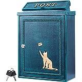 カバポスト 猫 ポスト 郵便ポスト 鍵付き 壁掛け おしゃれ ポスト郵便受け 郵便受け 大型 A4 ネコ