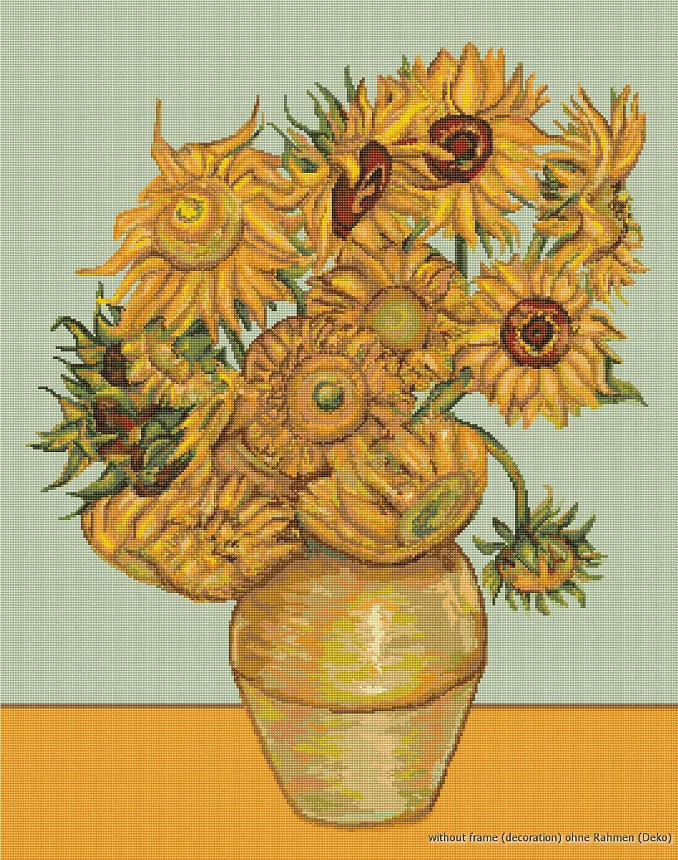 Lucas Kit de Punto de Cruz. Los Girasoles (Van Gogh)