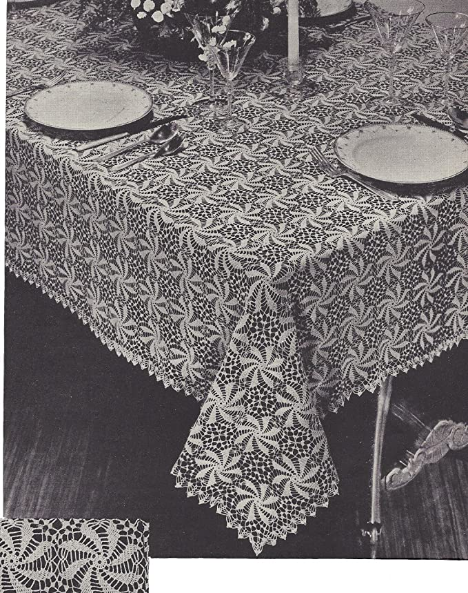 Amazon Vintage Crochet Pattern To Make Tablecloth Spinning
