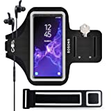 SOSONS Galaxy S9+ Armband, Water Resistant Sports Gym Armband Case for Samsung Galaxy S9 Plus,with Card Pockets and Key Slot,Fits Smartphones with Slim Case