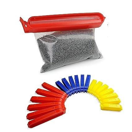 Pinzas de clip multicolor, set de 20 unidades, muy prácticas ...