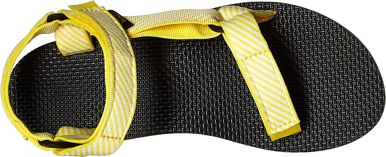 Teva - Flatform Universal W, Sandali con la Zeppa Donna Candy Stripe Giallo