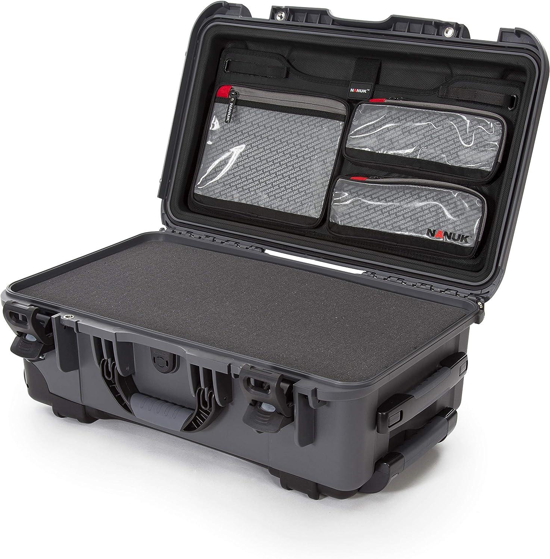 Black Nanuk 935 Waterproof Carry-On Hard Case with Wheels Empty