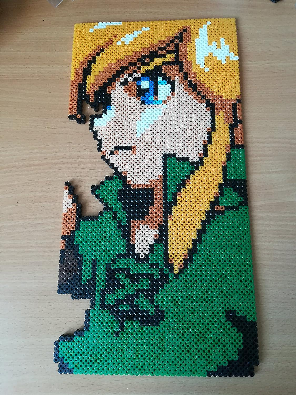 Pixel Art Perler Beads The Legend Of Zelda Portrait Link