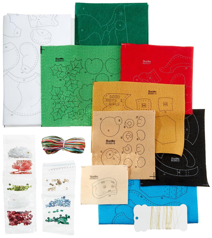 86278 The Finishing Touch Bucilla 18-Inch Christmas Stocking Felt Applique Kit