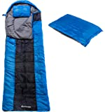 Hoxlow Outback Professional Sleeping Bag Lightweight Envelope ideal for Camping Outdoor Sports Hiking Festivals Adventure with Travel Pillow