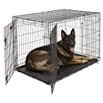 XL Dog Crate | Midwest iCrate Double Door Folding Metal Dog Crate | Divider Panel, Floor Protecting Feet, Leak-Proof Dog...