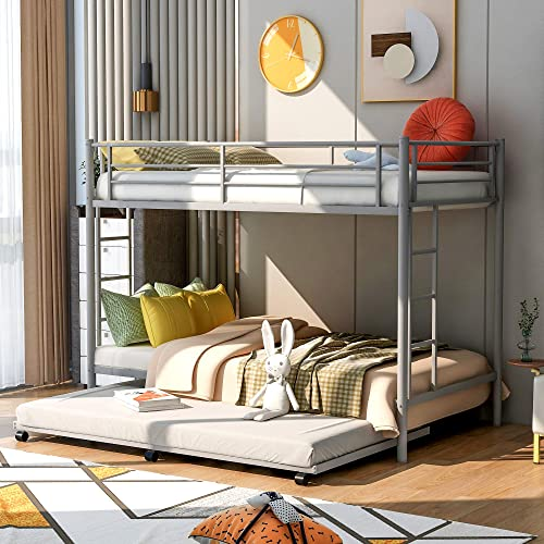 Harper Bright Designs Twin Over Twin Metal Bunk Bed