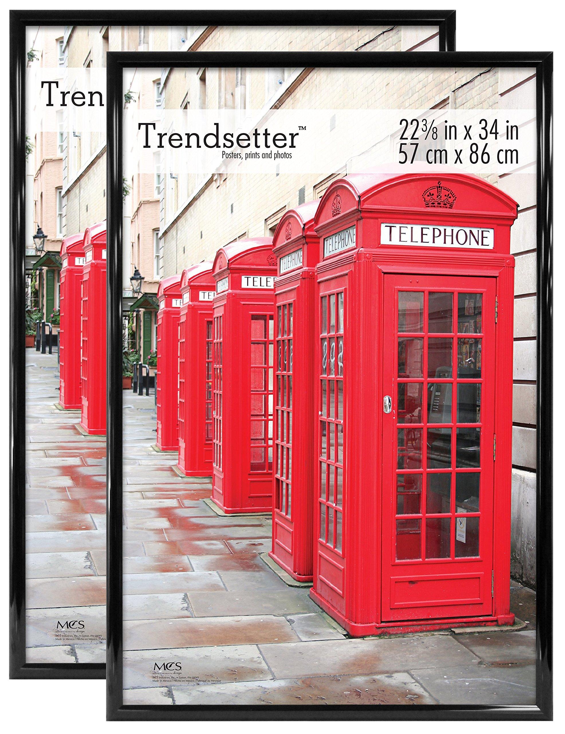 MCS Trendsetter Poster Frame, 22.375 by 34-Inch, Black, 2-Pack