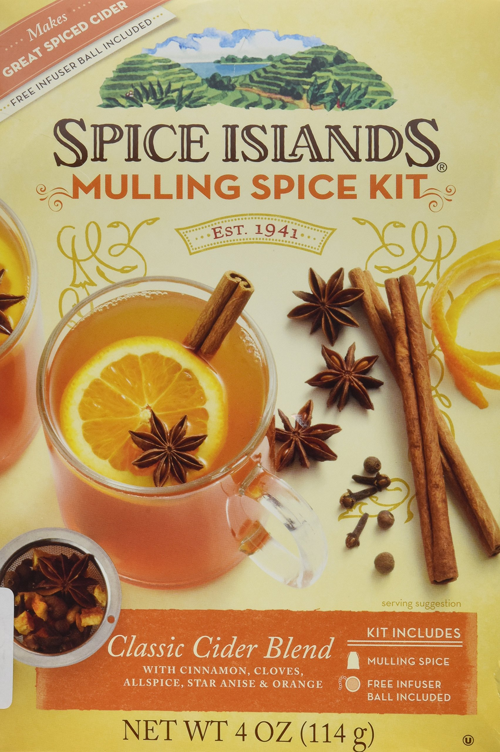 Spice Islands Classic Cider Blend (Mulling Spice Kit) with Infuser Ball-(Pack of 2)