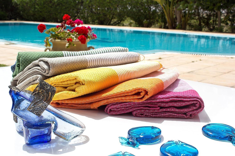 Fouta Abeille Hammam Pestemal Toalla de tela para sauna, tamaño XXL extragrande, 197 x 100 cm, 100% algodón de Túnez, toalla de playa, para baño, ...