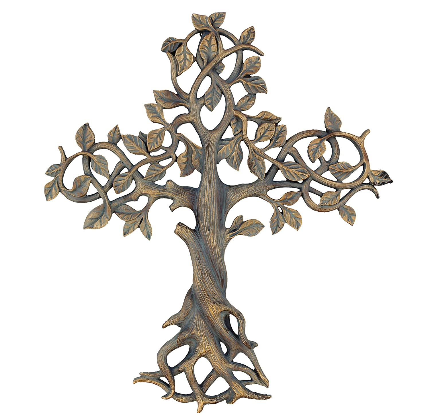 "Old River Outdoors Large 16"" Tree of Life Wall Cross - Decorative Spiritual Art Sculpture Plaque"