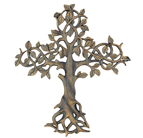 Old River Outdoors Large 16 Tree of Life Wall Cross – Decorative Spiritual Art Sculpture Plaque