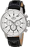 Invicta Men's 'S1 Rally' Quartz Stainless Steel and Leather Casual Watch, Color:Black (Model: 23599)