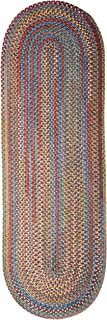 product image for Rustica Braided Rug, 2 by 6', Classic/Multicolor