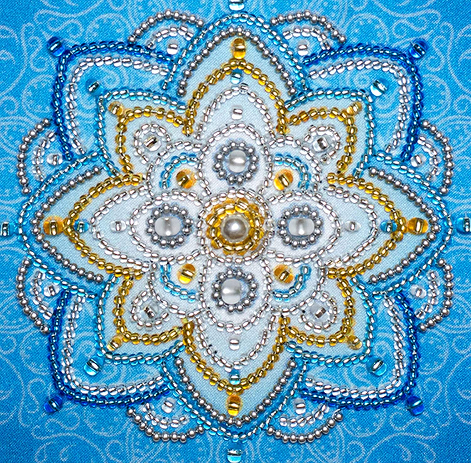 Mandala beads /& sequins Happiness VDV Bead Embroidery Kit