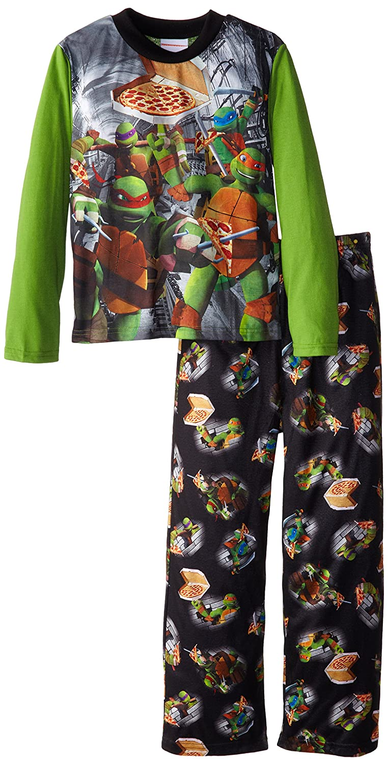 Teenage Mutant Ninja Turtles Little Boys' Pizza Pajama Set Multi 10 AME Sleepwear Girls 2-6x