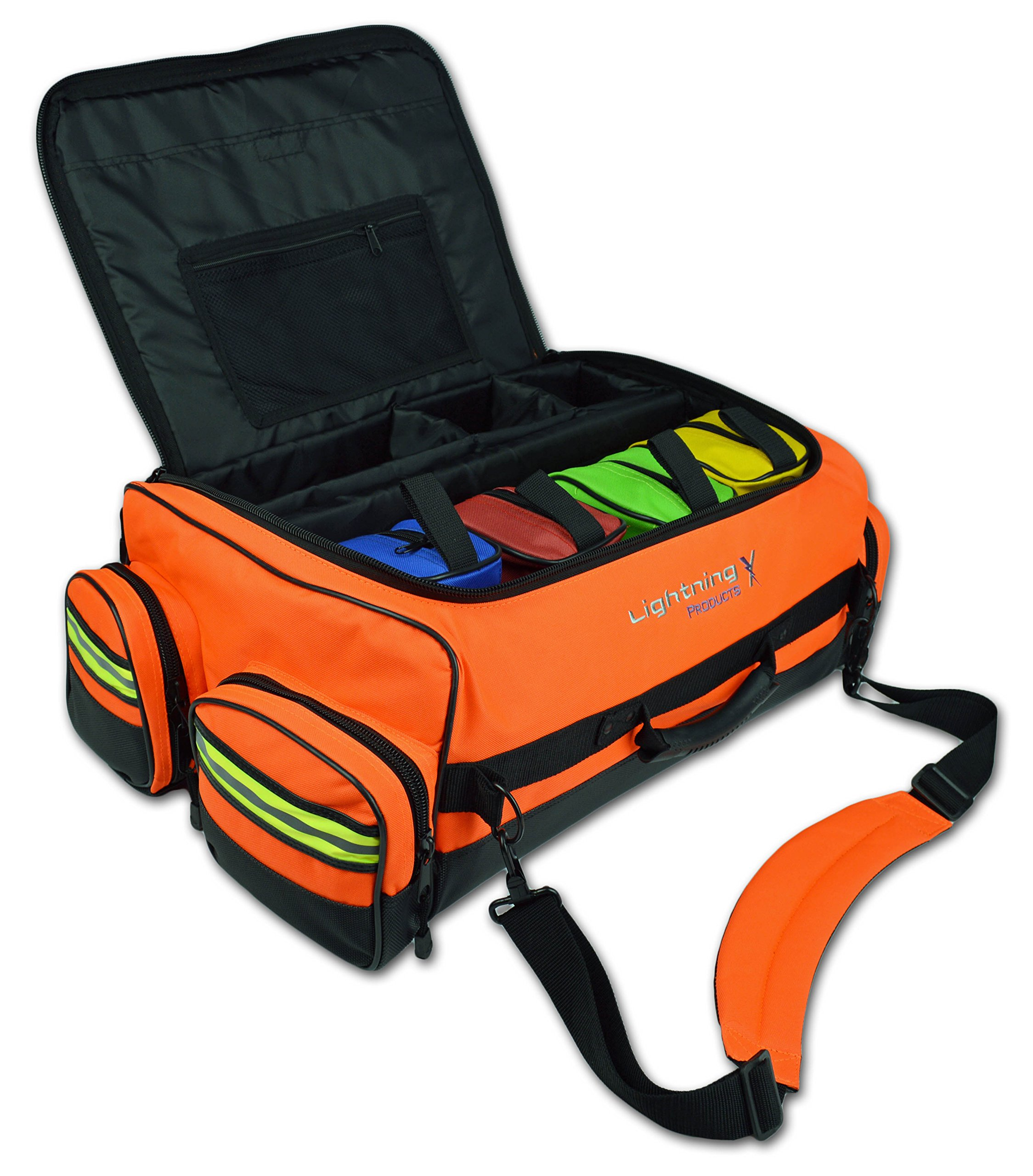 Lightning X Modular X-Tuff Oxygen Trauma Bag w/Zip-Out Cylinder Pocket & Removable Pouches - Florescent Orange