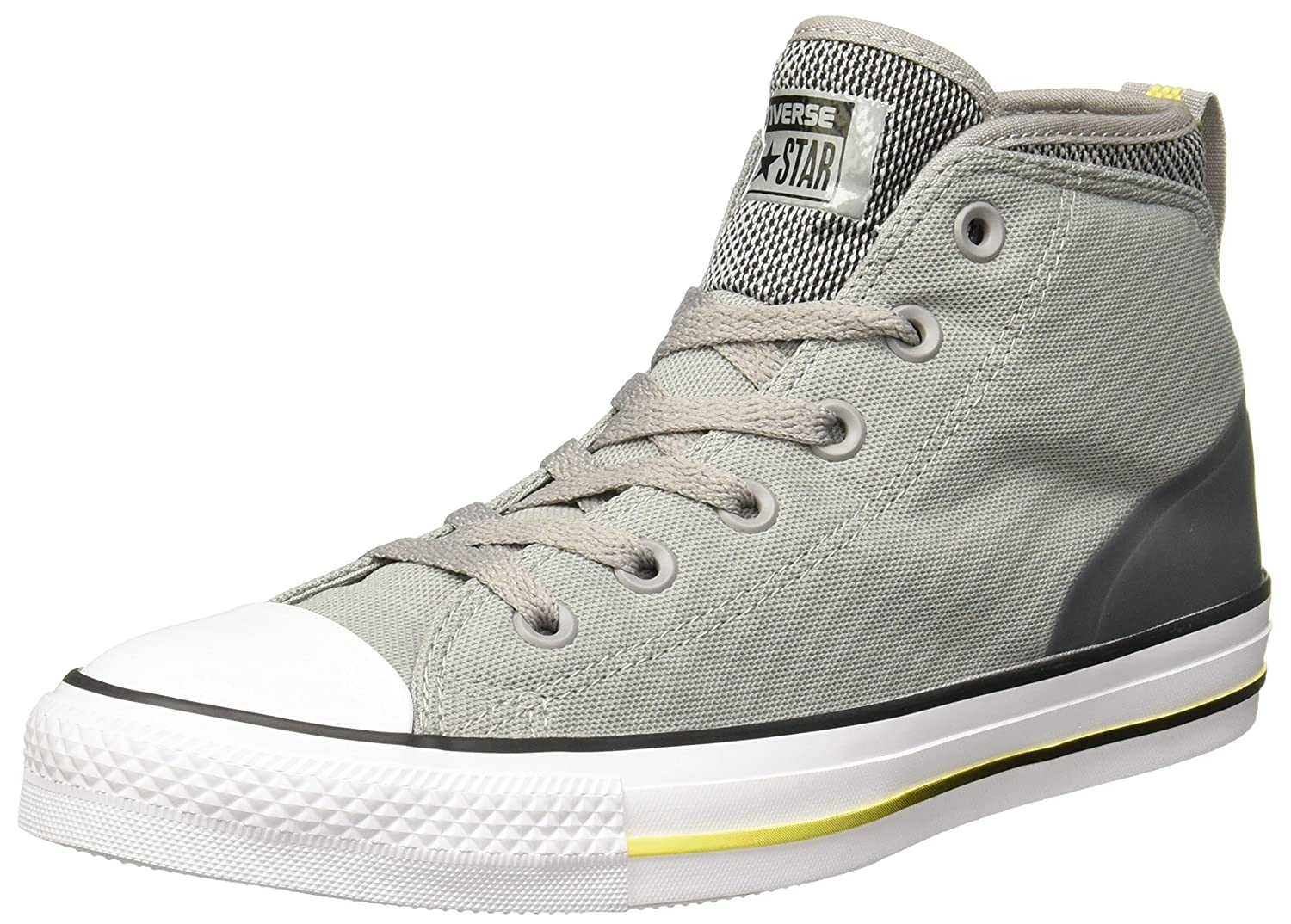 Converse Chuck Taylor All Star Syde Street Mid B01HNB8JXI 10 M US|Dolphin/Black/Fresh Yellow