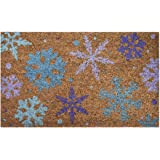 Ninamar Door Mat Winter Snowflakes Natural Coir - 29.5 x 17.5 inch