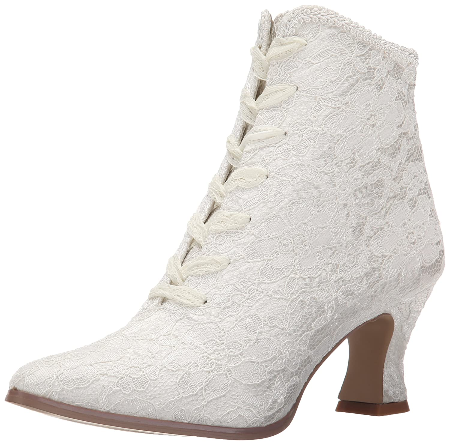 Fabulicious Women's VIC30/IVSA Boot B00JEY3UDW 9 B(M) US Ivory Satin/Lace