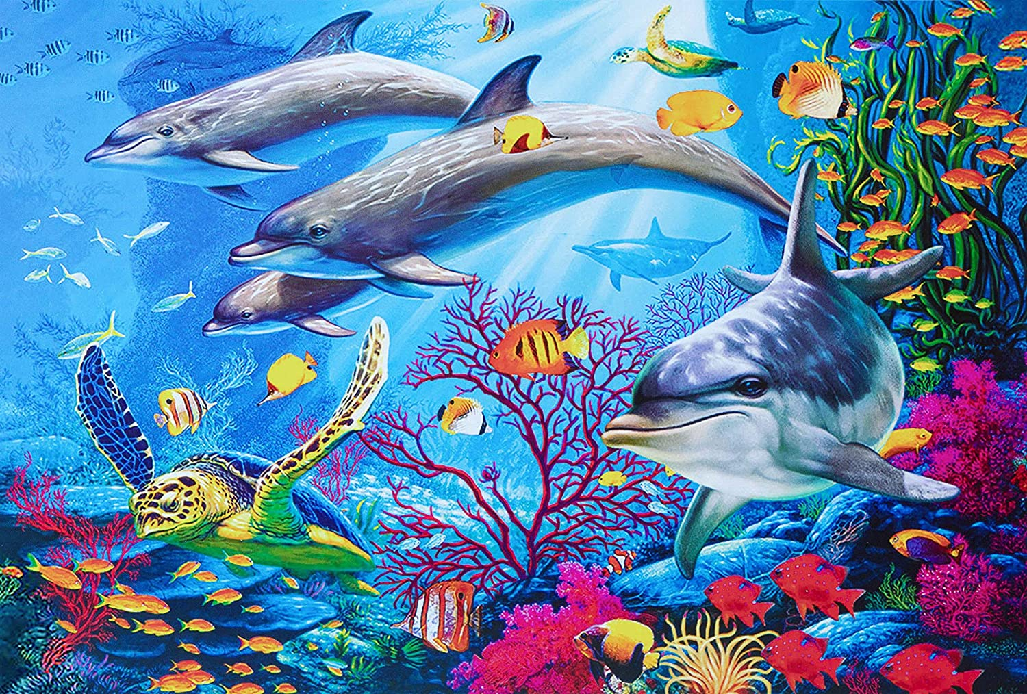 1000 Pcs Jigsaw Puzzles - Ocean World, Educational Intellectual Decompressing Spaß Game für Kids Adults