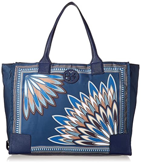 0f6d9042e8f8a Tory Burch Ella Packable Tote - Navy Eden  Amazon.ca  Luggage   Bags