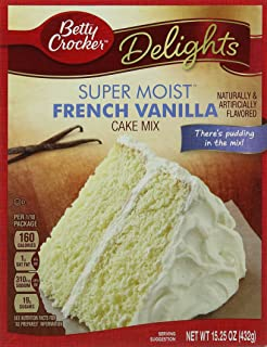 Betty Crocker Super Moist French Vanilla Cake Mix 432 G Pack Of 2