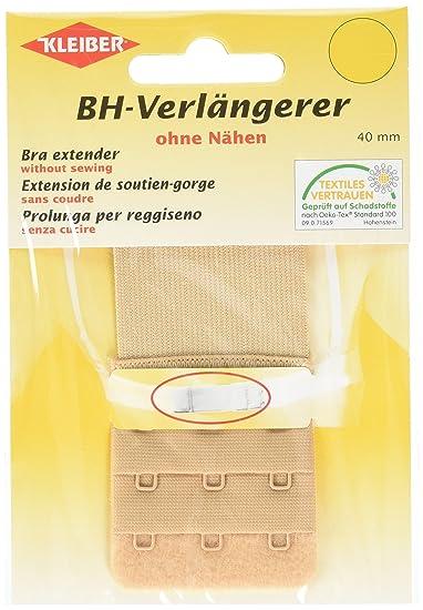 Kleiber - Alargador de sujetador con cierre de tres corchetes, 40 mm, color Color beige/piel: Amazon.es: Ropa y accesorios