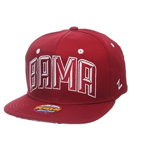 ed566aee Amazon.com : Zephyr NCAA Alabama Crimson Tide Children Boys Youth TC  Villain Snapback Hat, Youth Adjustable, Team Color : Clothing