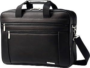 "Samsonite Classic Business Perfect Fit Two Gusset Laptop Bag - 15.6"" Black"