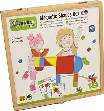 sortie de gros france pas cher vente grande qualité Andreu Toys Boîte À Formes magnétique 28,6 x 28,6 x 3,8 cm (Multicolore)