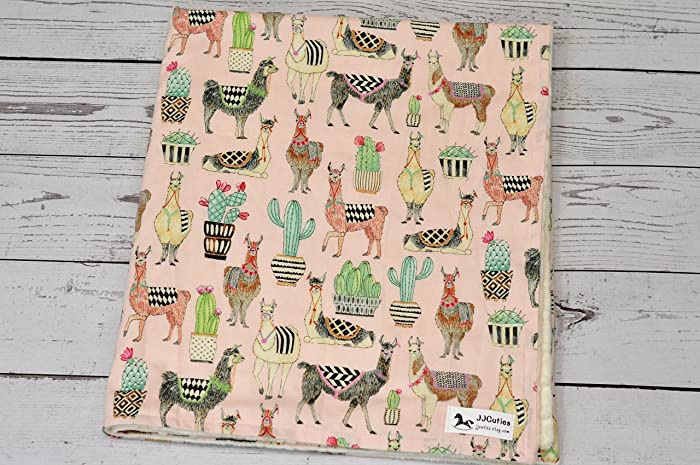 Amazon personalized baby blanket personalized minky baby personalized baby blanket personalized minky baby blanket minky llama baby blanket personalized baby negle Image collections