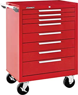 """product image for Kennedy Manufacturing 378Xr 27"""" 8-Drawer Industrial Tool Storage Rolling Cabinet With Chest And Wheels, Industrial Red"""