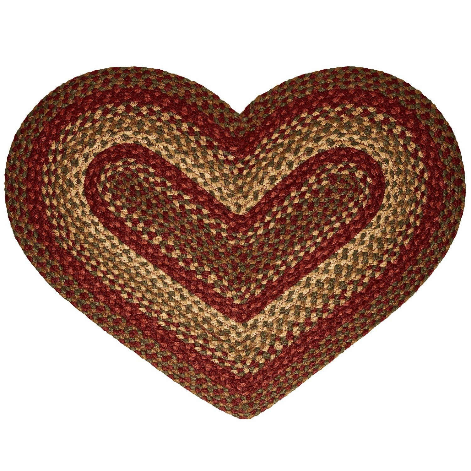 cinnamon heart shaped braided rug kitchen dining