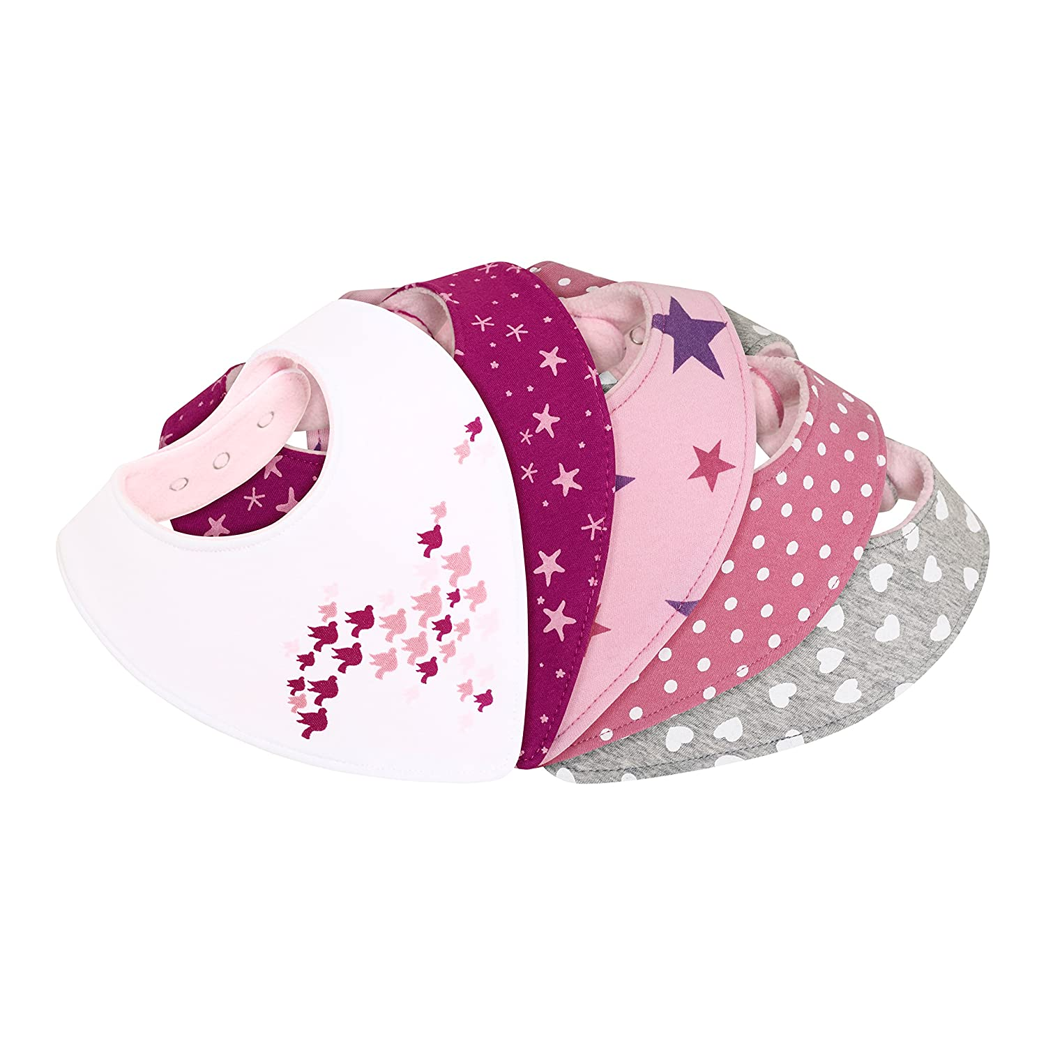 Dribble Baby Bandana Bibs Girl-s - Highly Absorbent and Soft - Cute New Gift-s Lamoku GmbH