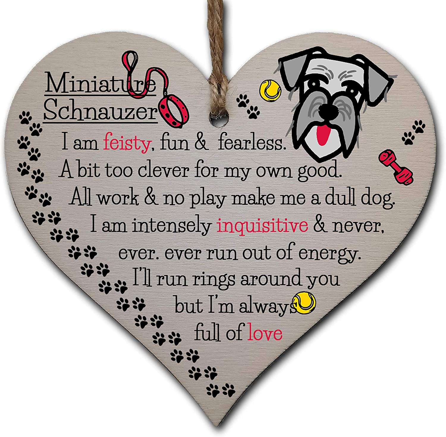Handmade Wooden Hanging Heart Plaque Gift Perfect for Dog Lovers Pet Keepsake No