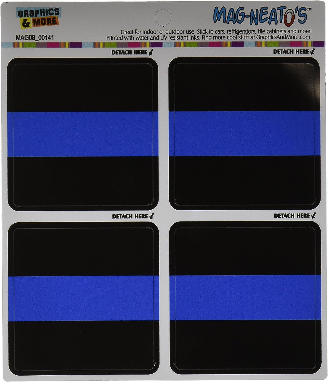 Graphics and More Gráficos y más Delgada línea Azul Policía mag-Neato del automóvil Coche Lado Locker Vinilo imán Set: Amazon.es: Hogar