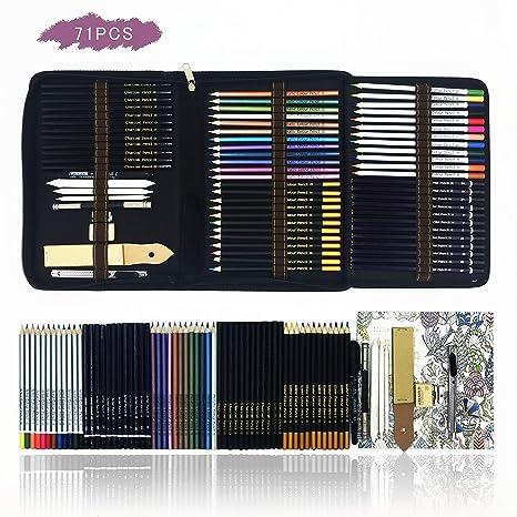 Professionale Matite Colorate Kit Per Schizzo E Disegno Artistico 70