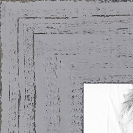 ArtToFrames 5x7 inch Weathered Barnwood in Saturated Grey Wood Picture Frame, WOMSM-ECO150-