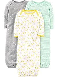 e0197c0e8f Simple Joys by Carter s Baby 3-Pack Cotton Sleeper Gown