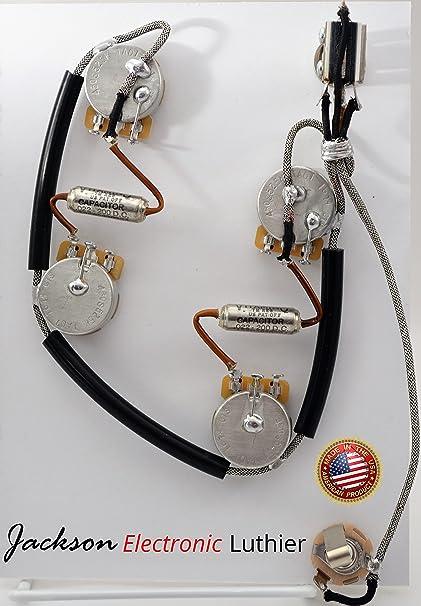amazon com es 335 wiring harness sprague vitamin q 022 uf upgrade les paul wiring harness es 335 wiring harness sprague vitamin q 022 uf upgrade short shaft 525k