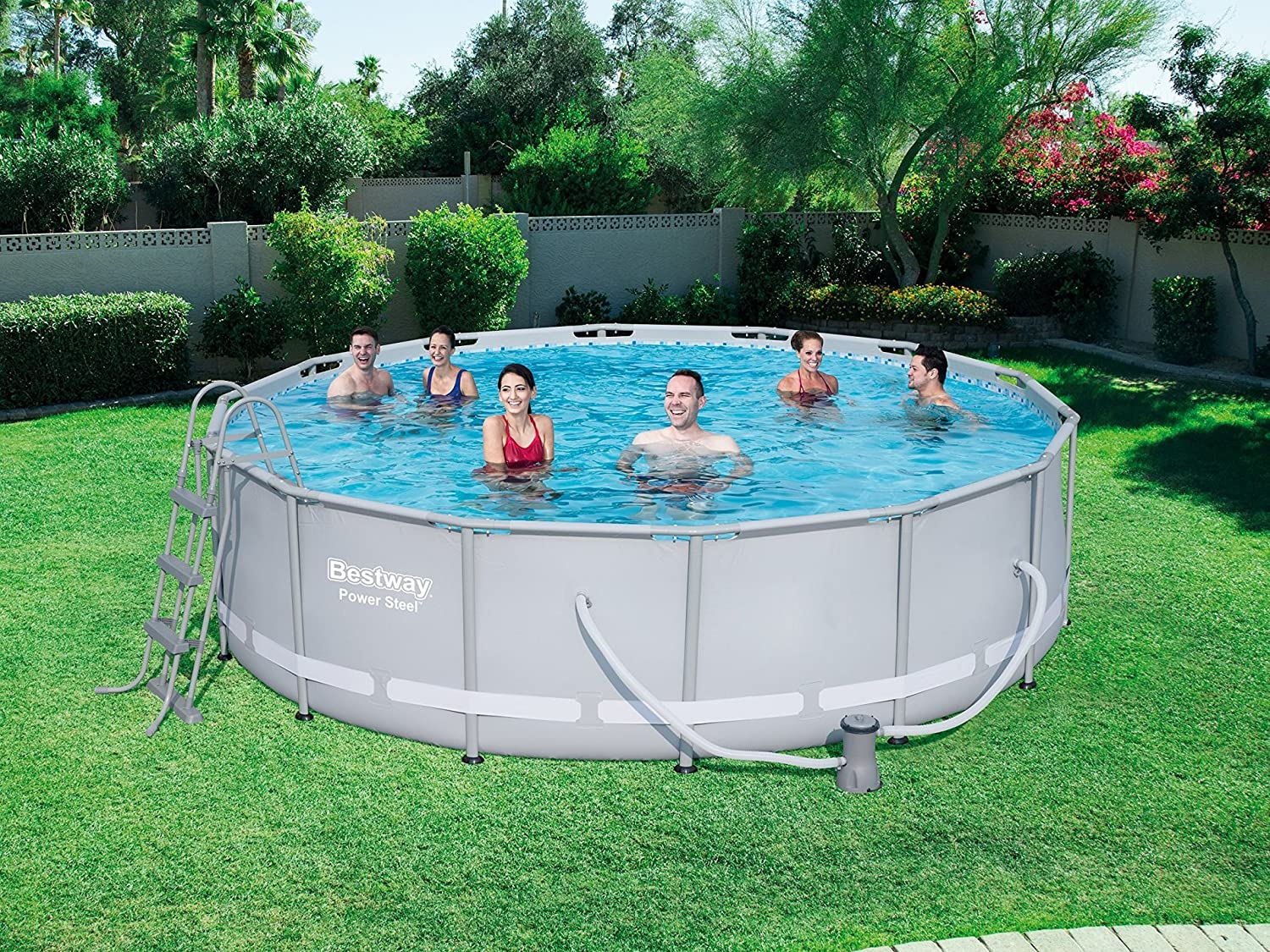 Bestway Power Steel Frame Pool Set, Round with Filter Pump and ...