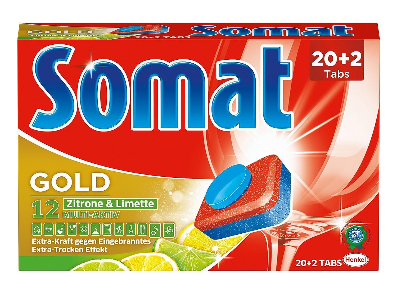 Pastillas para lavavajillas Somat 12 Lima limón. 20+2 pastillas M ...