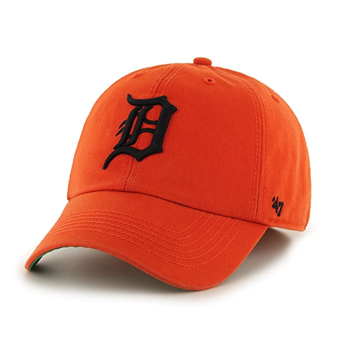new concept 84274 cbccd  47 MLB Detroit Tigers Franchise Fitted Hat, Orange, XX-Large