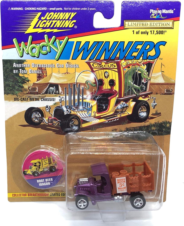 Johnny Lightning Root Beer Wagon (Purple) Tom Daniel Wacky Winners Series 1 Limited Edition 1996 Playing Mantis 1:64 Escala vehículo Fundido (1 de sólo 17.500): Amazon.es: Juguetes y juegos