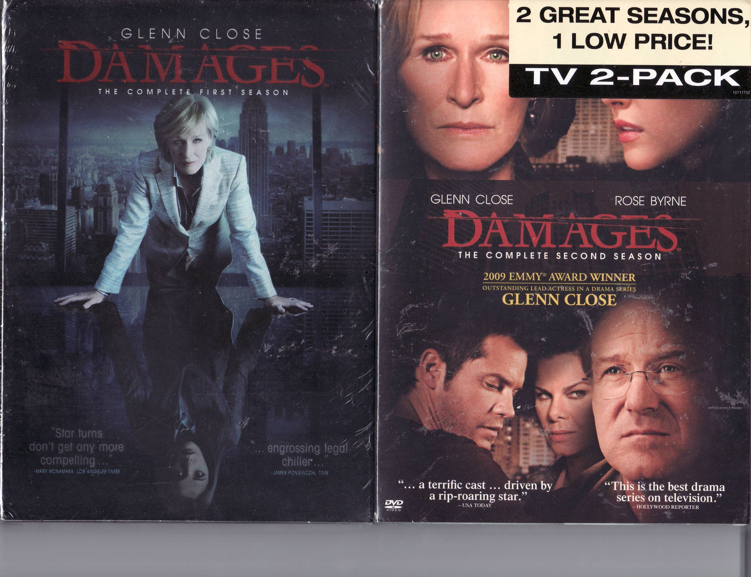 Damages LIMITED EDITION 2 Pack DVD Set - The Complete Season One and Complete Season Two